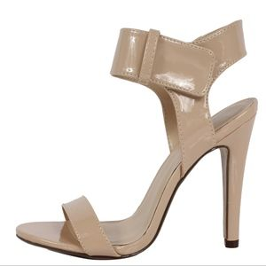 Shoes - Natural Open Toe Ankle Strap High Heel Kamila